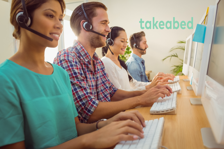 takeabed customer support attending calls on behalf of our agents